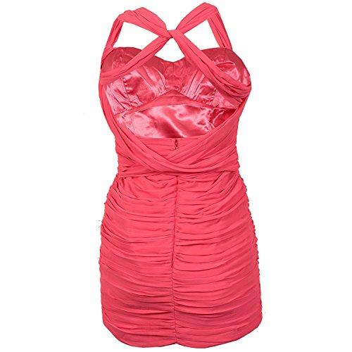 Robe en mousseline pour femme Lipsy (rose)