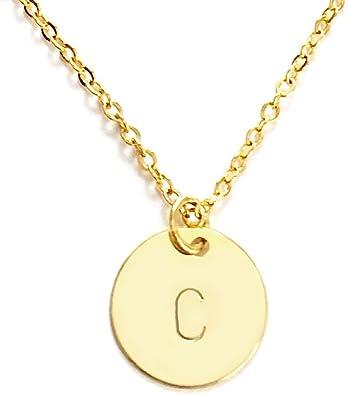 Initial Disc Necklace Customize Circle Necklace Personalised Circle Necklace Personalised Initial Necklace Customize Initial Necklace