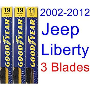 2002-2012 Jeep Liberty Replacement Wiper Blade Set/Kit (Set of 3 Blades