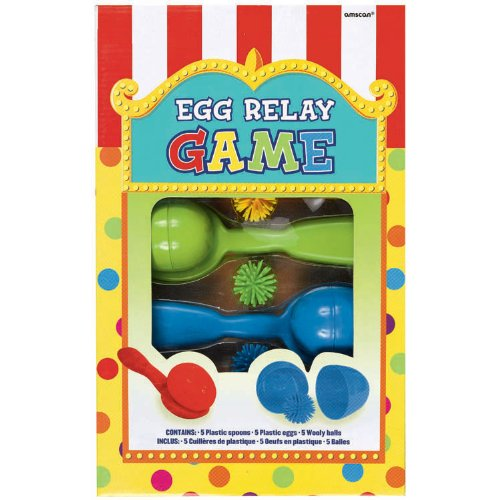 Carnival Fair Fun Egg Relay Game Party Activity, Plastic Pack of 15