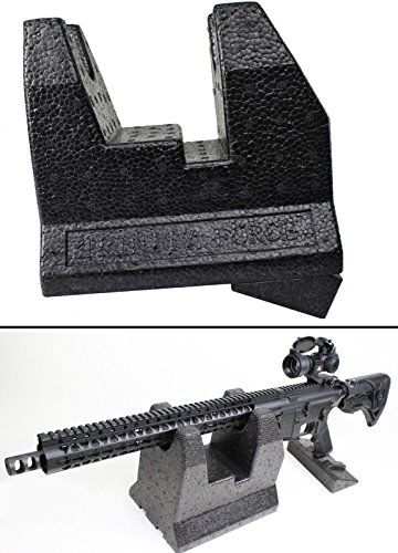 Ultimate Arms Gear Foam Universal Front & Rear Rifle/Shotgun/Bolt Action Steady Shooter Support Table Bench Rest for Shooting Range, Show Case Displays, Gunsmith/Armorer's Work