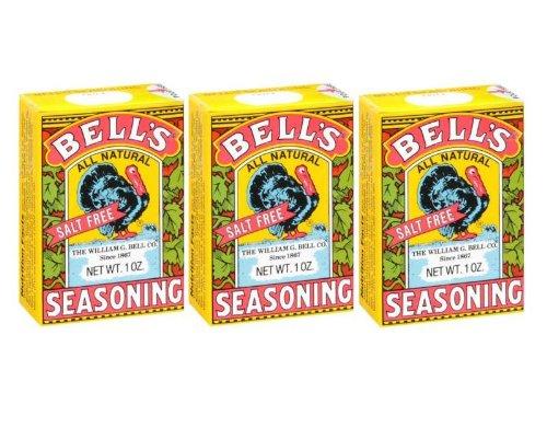 Natural Seasoning (Bell's All Natural Salt Free Poultry / Turkey Seasoning 1 Oz (Pack of)