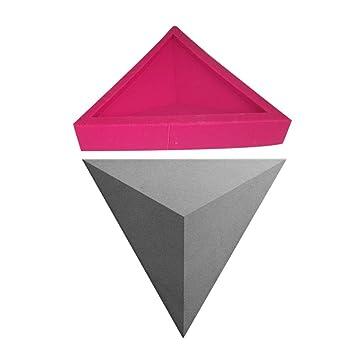 Ausomely Simplicidad Moderna Moldes de Silicona en 3D: Pared geométrica Muro de hormigón, TV Fondo Decoración Pared Ladrillo Molde Azulejo Artesanía: ...