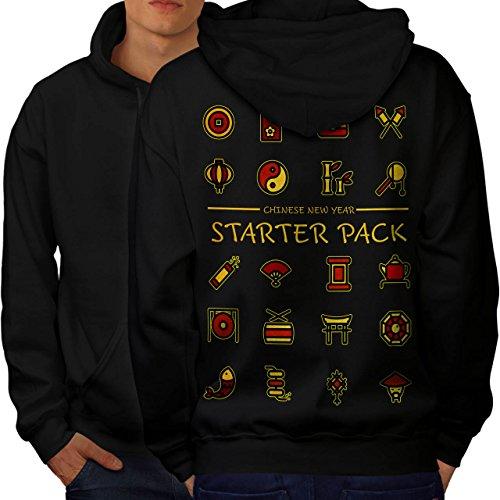 Starter Pack New Year Starter Pack Men M Hoodie Back   Wellcoda