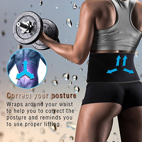 Women TUOY Men 48 for Loss One Adjustable inches Support for Free Sports Size Sauna Trainer Enhancer Fits Abdominal Wrap Weight Trimmer Workout Lumbar Workout Weight Yellow Waist Belt Lifting Build Belt Muscle rIwYXrq