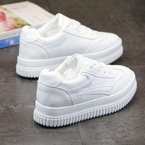 Deportes Zapatos Bizcocho Fondo KPHY Estudiantes Naturaleza Mujer white Grueso ZFnPP1zW