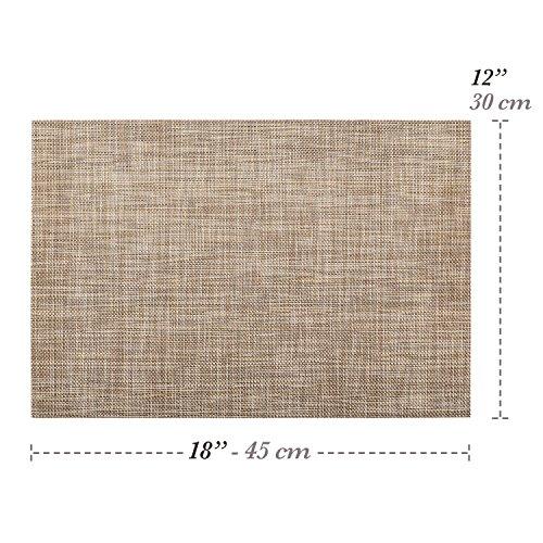 Elegant Placemat Set. Pack of 4 Italian Design Placemats (Brown)