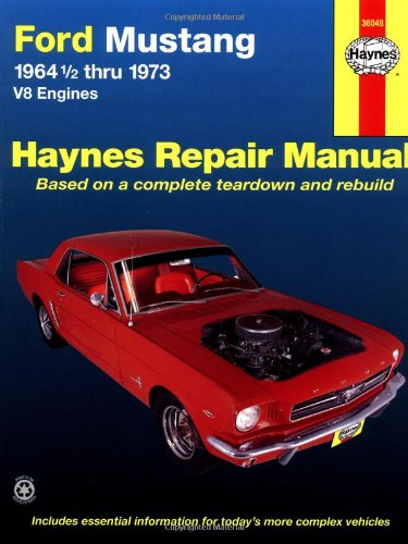 Ford Mustang V8 Automotive Repair Manual  1964 1 2 Thru 1973