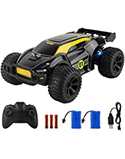 ADDSMILE Remote Control Car, 2.4GHz 1:22 Scale RC Car High-Speed Racing Car Toy Car with 100mins Running Colorful LED Light 2 1000mah Rechargeable Battery for Kid Adul