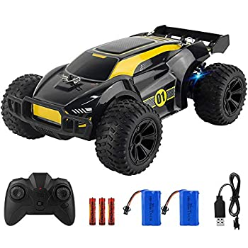 ADDSMILE Distant Management Automobile, 2.4GHz 1:22 Scale RC Automobile Excessive-Pace Racing Automobile Toy Automobile with 100mins Operating Colourful LED Mild 2 1000mah Rechargeable Battery for Child Grownup