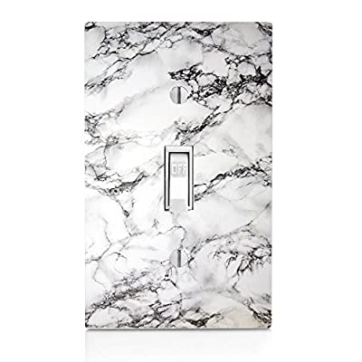 MWcustoms White Marble Design Light Switch Plate: Home & Kitchen