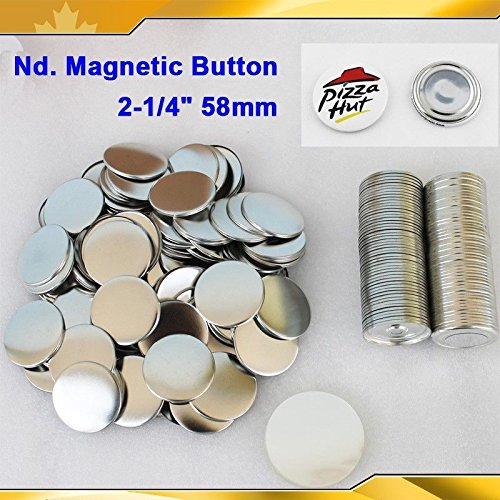 Nd. Magnetic 2-1/4'' 58mm Magnet 100sets Parts Supplies for Pro Maker Machine by Button Maker
