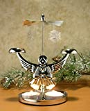 Angel Chimes Candle Spinner - Snowflakes and Angel Candle Holder - Scandinavian Angel Style Christmas Candle Holder