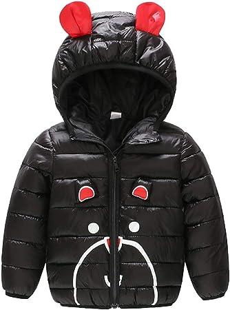 Abrigo de algodón informal para niña con capucha para niña de ...