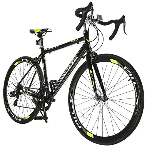 (Murtisol GTM 700C Road Bike with Aluminum Frame and Steel Fork,Light Green)