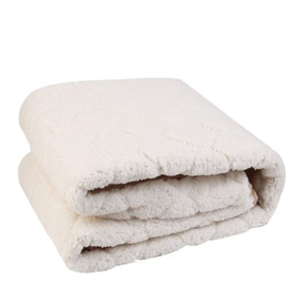 Cashmereblanc Luxe couverture chauffante basse pression couverture électrique maison mode Design Premium velours luxe couverture douce et confortable,Cashmerekhaki,180cm200cm 180cm80cm