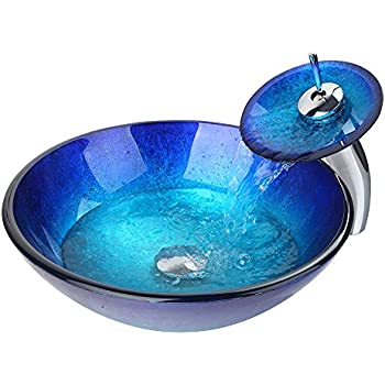 WEIXINTECH Bathroom Basin Sink Faucet Blue Washbasin