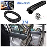 CISUNG 3M Black Rubber Car Auto Door Trunk Lip Edge Seal Trim Protector Strip Universal