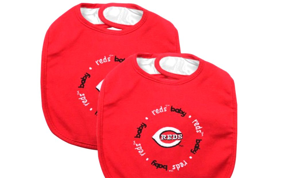 Baby Fanatic Team Color Bibs, Cincinnati Reds, 2-Count (Discontinued by Manufacturer)
