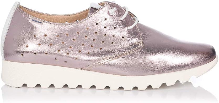 BAERCHI 37051 Zapato Cordon Piel Metalizada Mujer Rosa 36