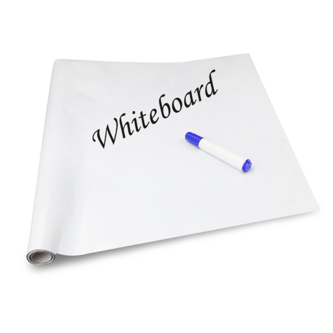 cancellabile casa ristorante - Lavagna adesiva da parete in vinile di alta qualit/à ufficio 45/x 200/cm White 1 penna Idefair adatta per scuola colori assortiti TM