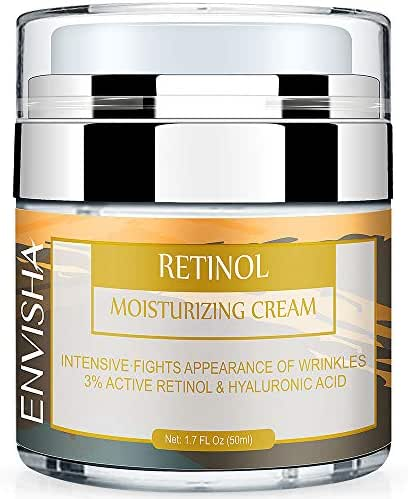 Wumal Retinol Moisturizer Cream for Face and Eye Area - Anti Aging Infused with 3% Active Retinol, Hyaluronic Acid & Vitamin E - Reduce Wrinkles, Fine Lines, Fades Sun Spot