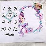 AYIYO-Mermaid-Butterfly-Flowers-Printed-Blanket-Photo-Props-Infant-Newborn-Baby-Boy-Girl-Mermaid