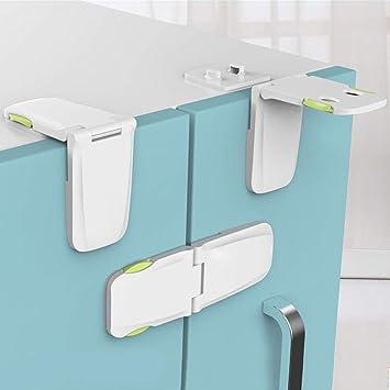 5x Wardrobe Cabinet Refrigerator Door Children Baby Blue Safety Security Lock