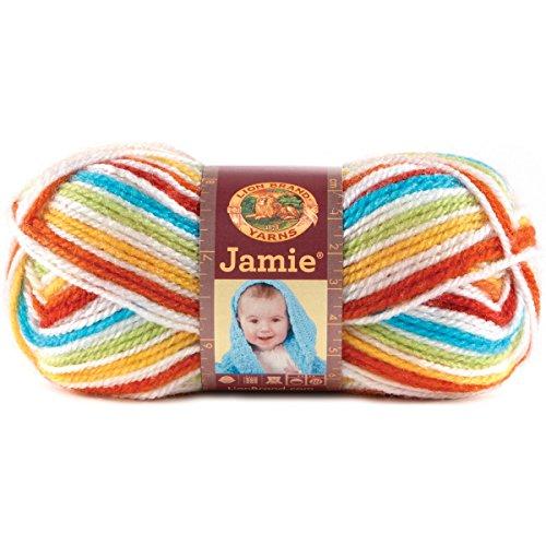 Lion Brand Yarn 881-205 Jamie Yarn, Caribbean Stripes