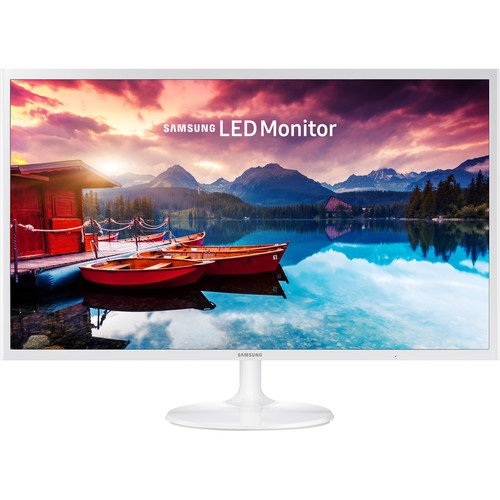 2017 Samsung 32-Inch Full HD 1920 x 1080 Slim Design Monitor with 60 Hz, 16:9, 250 cd/m2, 5ms, 5000:1, 178°/178°, HMDI, VESA Mount, White by Samsung