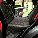 Cheap Asmew Dog Car Seat Covers – for Cars Trucks SUV Back Seats, Waterproof Hammock with Mesh Window, Side Flaps and Seat Belts, Durable Anti-Scratch Nonslip Machine Washable