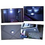 Chezaa Touch Night Light,Home Kitchen Under Cabinet Closet Push Stick On Lamp,4 LED (Silver)