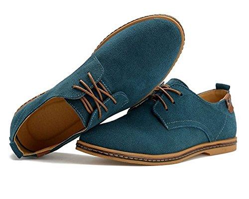 Tentoes Mens Klassiska Läder Oxford Skor Grönt