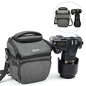 Best Epic Trends 51-COUURK0L._SS300_ Camera Bag, Zecti SLR DSLR Camera Case Bag Padded Camera Shoulder Bag with Rain Cover & Retractable Main Compartment for…