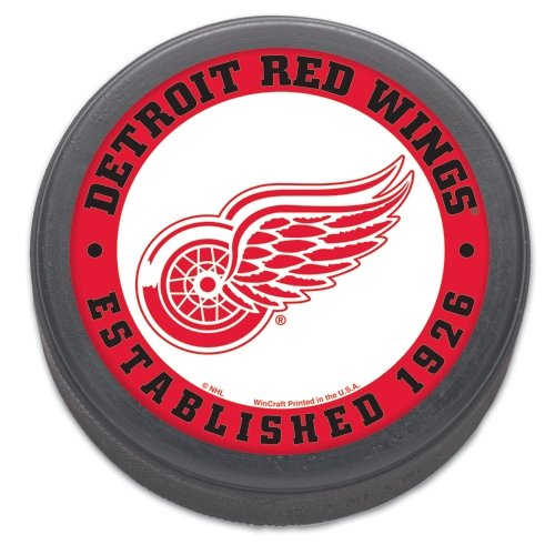 NHL Detroit Red Wings Hockey - Detroit Red Hockey Puck Wings