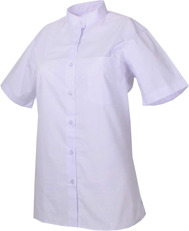 MISEMIYA - Camisa Cuello Mao Uniforme Camarera Mujer MESERO DEPENDIENTA Barman COCTELERA PROMOTRORAS Blusa - Ref.8271B: Amazon.es: Ropa y accesorios