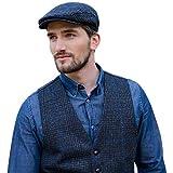 Mucros Weavers Men's Tweed Vest - Police Blue, X-Large