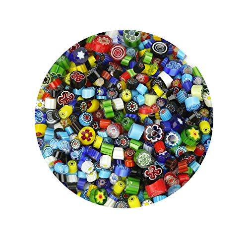 - Millefiori Glass Assorted Patterns & Colors 4mm-10mm COE90 1oz Bag
