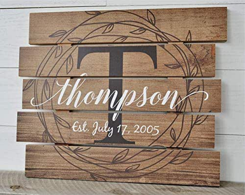 Amazon.com: Personalized Family Name Sign Rustic Pallet ...