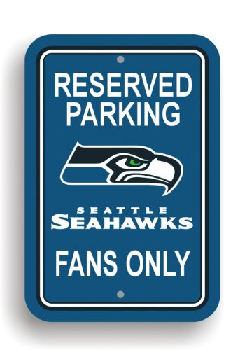Fremont Die NFL Seattle Seahawks Plastic Parking Sign by Fremont Die