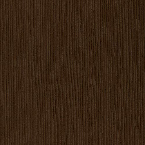 Bazzill Suede Dark Brown 12x12 Textured Cardstock | 80 lb Walnut Brown Scrapbook Paper | Premium Card Making and Paper Crafting Supplies | 25 Sheets per Pack ()