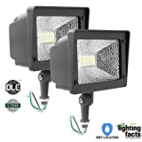 Cinoton LED Floodlight With Knuckle, 50W (250W Equivalent), 5500 Lumen, 5000K (Crystal White Glow), Waterproof, IP65, 100-277v, Instant On (2PACK)