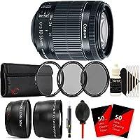 Canon EF-S 18-55mm f/3.5-5.6 IS STM Lens + 58mm UV CPL ND Kit + Telephoto & Wide Angle Lens + Lens Pen + Dust Blower + 100 Lens Tissue + 3pc Cleaning Kit
