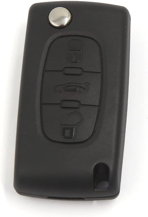 3 Button Remote Flip Key Cover Case Fob for Peugeot 107 207 307 308 406 407 607