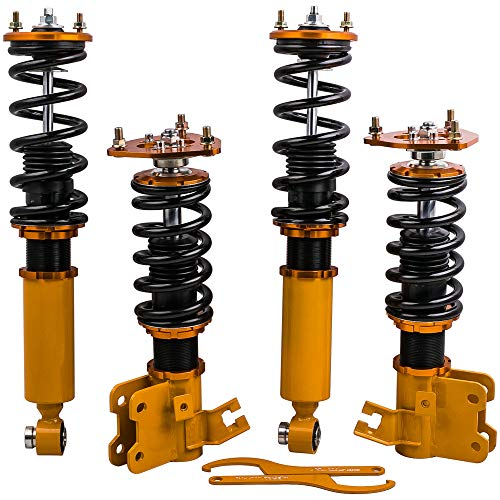 Full Coilovers Kits for Nissan 89-94 240SX S13 Hatchback/Coupe Suspension Spring Shock Absorbers Strut ()