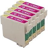 インク 【互換インク】 エプソン EPSON ICM62 カートリッジ プリンターインク 汎用インク インクカートリッジ 純正 汎用 ICM62 5個パック(マゼンタ 赤)