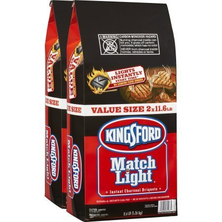 PACK OF 2 - Kingsford Match Light Instant Charcoal Briquettes, Two 11.6 Pound Bags