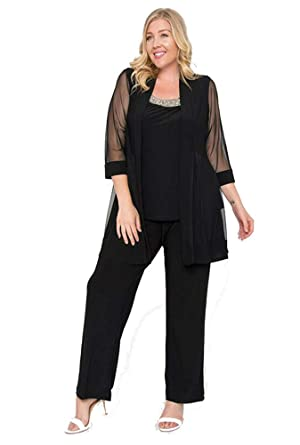 R M Richards Long Formal Pants Suit Plus Size Dress At Amazon