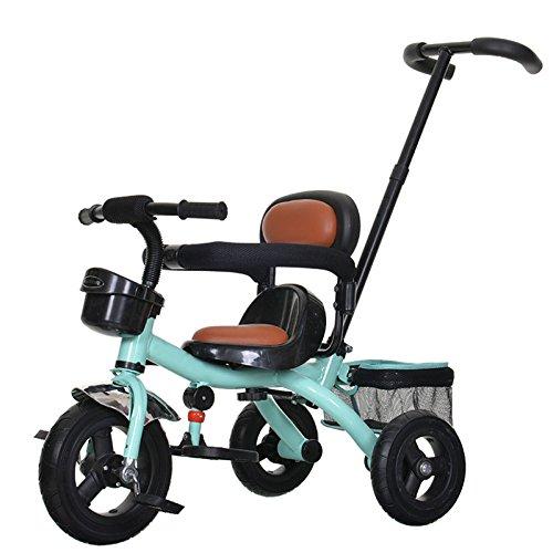 QXMEI Triciclo para Niños Bicicleta 1-5 Años Cochecito Bicicleta Niño Niña Carro De Mano,Green2