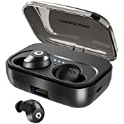 #LightningDeal PASONOMI Bluetooth Earbuds Wireless Headphones Bluetooth Headset Wireless Earphones IPX7 Waterproof Bluetooth 5.0 Stereo Hi-Fi Sound with 2200mA Charging Case [2019 Version] (Black)